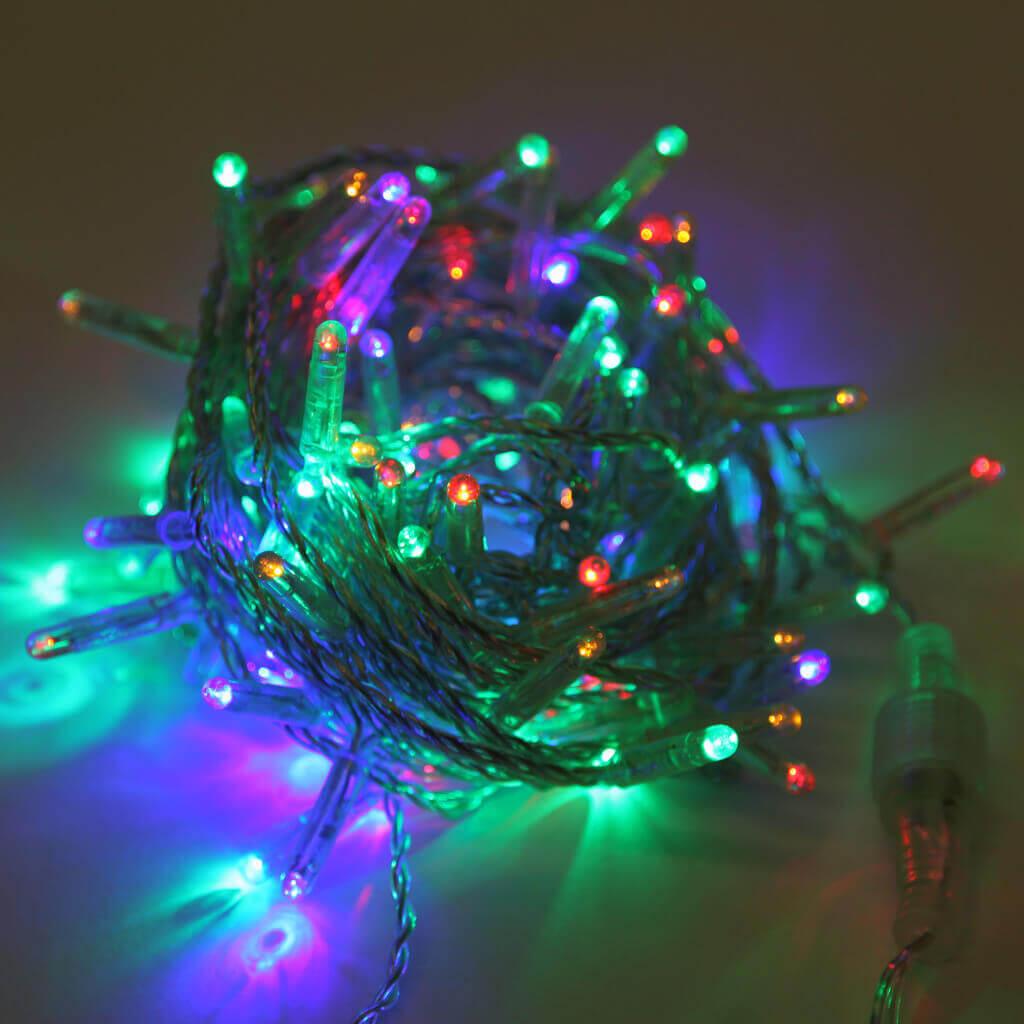 Светодиодная гирлянда Нить 10м 100LED разноцветная без мерцания 05-1977 schreiber гирлянда светодиодная разноцветная 100 ламп 10м