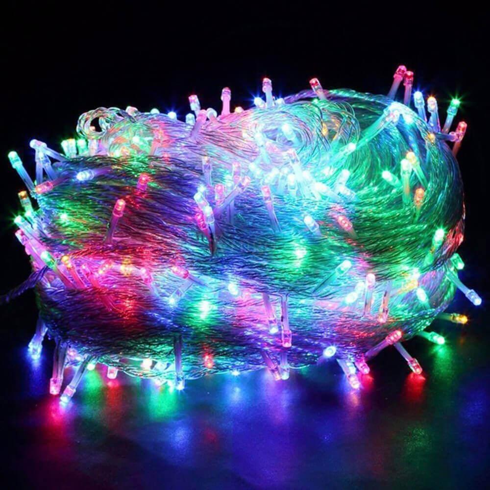 Светодиодная гирлянда Нить 10м 100LED разноцветная с мерцанием 08-1557 schreiber гирлянда светодиодная разноцветная 100 ламп 10м