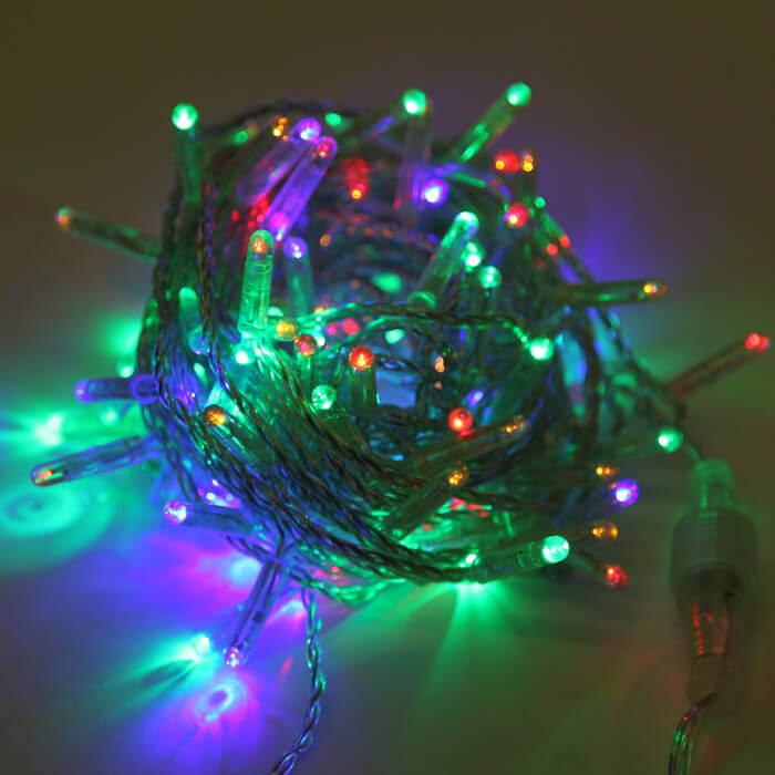 Светодиодная гирлянда Нить 10м 100LED разноцветная с мерцанием 05-1972 schreiber гирлянда светодиодная разноцветная 100 ламп 10м
