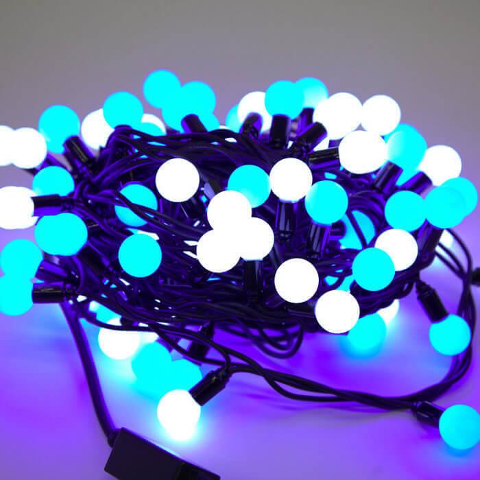 Светодиодная гирлянда Шарики 2.3см 10м 100LED разноцветная без мерцания 05-1979 schreiber гирлянда светодиодная разноцветная 100 ламп 10м