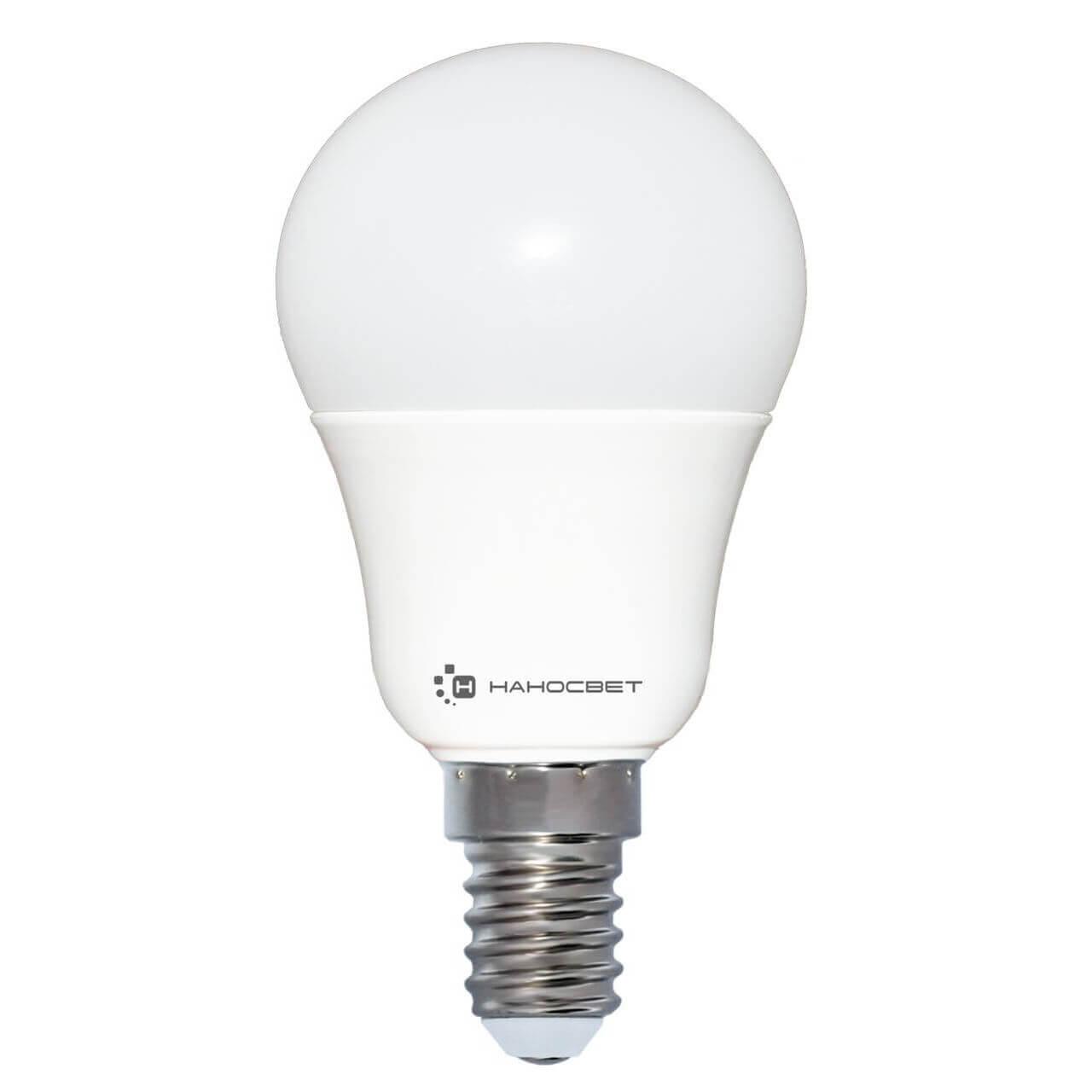 купить Лампа светодиодная Наносвет E14 7,5W 2700K матовая LC-P45-7.5/E14/827 L204 по цене 219 рублей