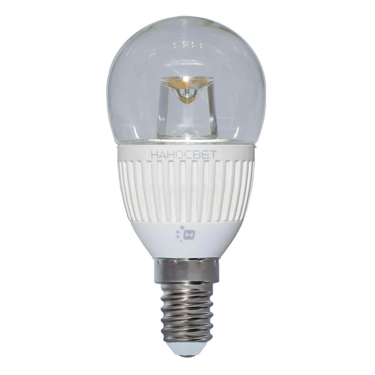 купить Лампа светодиодная Наносвет E14 5W 4000K прозрачная LC-P45CL-5/E14/840 L125 по цене 159 рублей