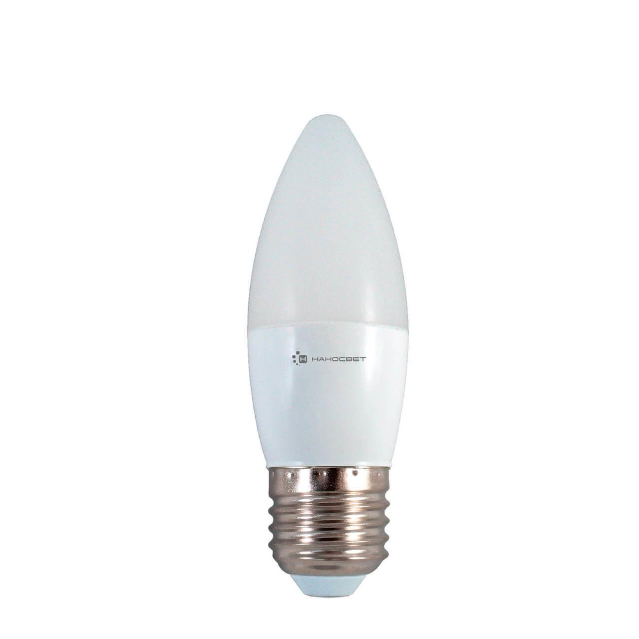 Лампа светодиодная Наносвет E27 6W 2700K матовая LE-CD-6/E27/827 L252 лампа светодиодная e27 6w 2700k свеча матовая le cd 6 e27 827 l252