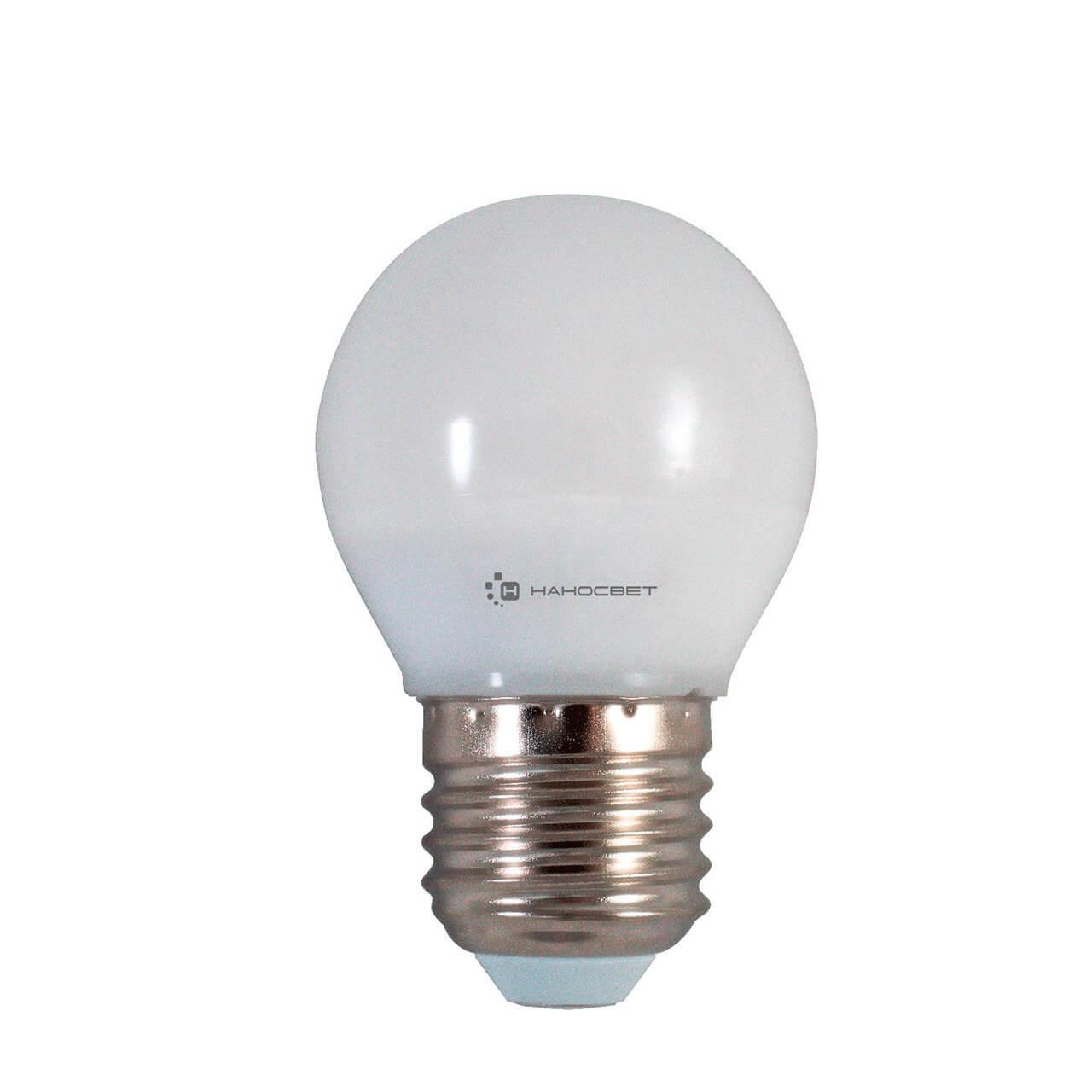 Лампа светодиодная Наносвет E27 6,5W 4000K матовая LE-P45-6.5/E27/840 L133 l133 icy cocktail