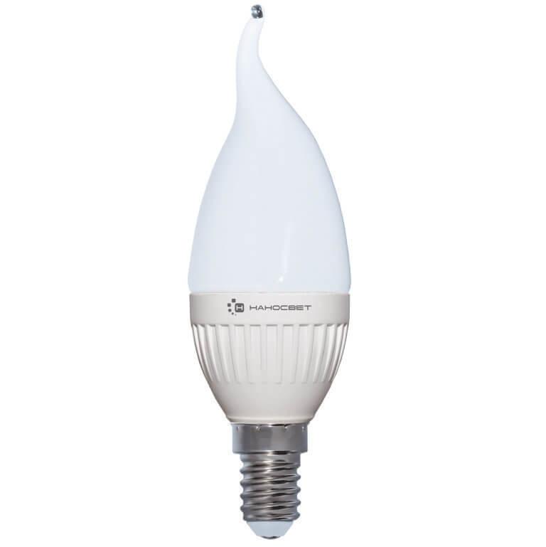 купить Лампа светодиодная Наносвет E14 6,5W 2700K матовая LC-CDT-6.5/E14/827 L216 по цене 259 рублей