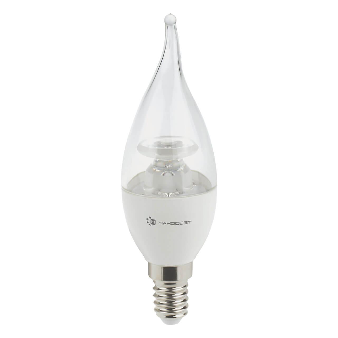 купить Лампа светодиодная Наносвет E14 6,5W 2700K прозрачная LC-CDTCL-6.5/E14/827 L218 по цене 219 рублей