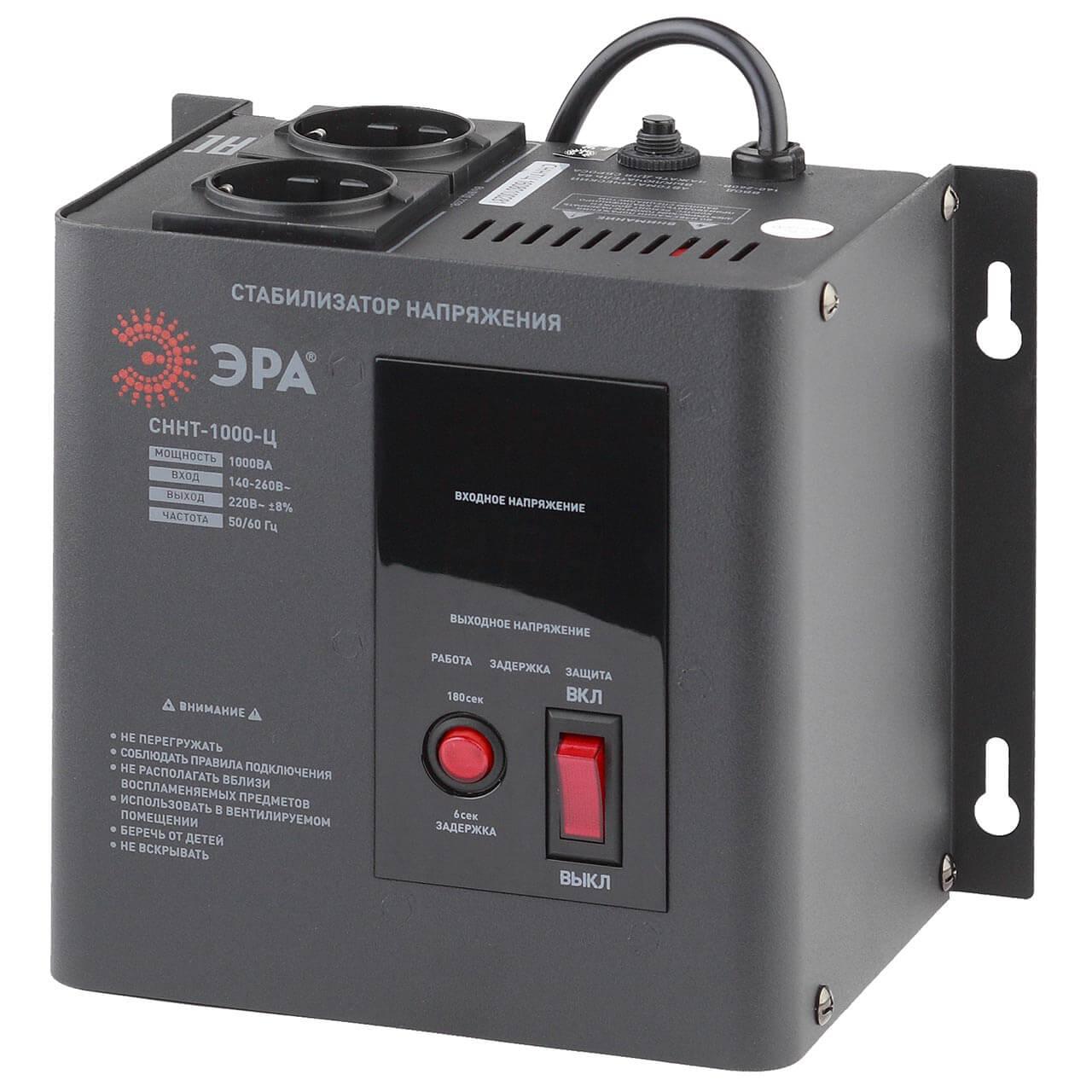 Стабилизатор напряжения ЭРА СННТ-1000-Ц цена