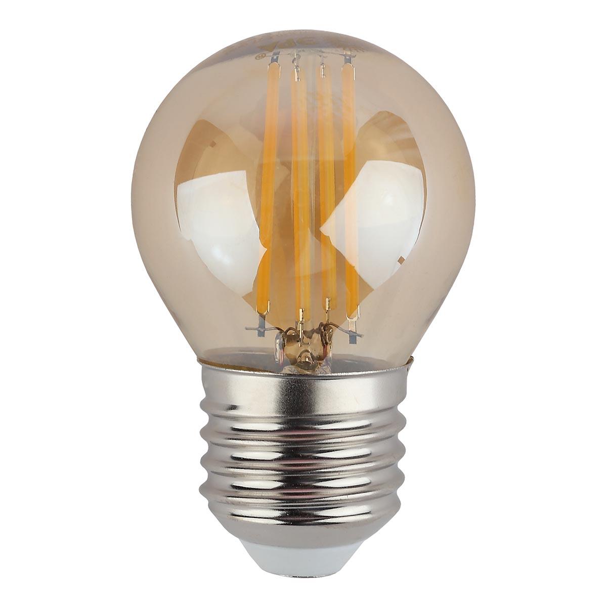 Лампочка ЭРА F-LED P45-9w-827-E27 gold F-LED P45 лампа светодиодная led p45 9w 827 e27