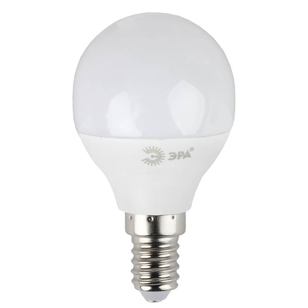 цена на Лампа светодиодная ЭРА E14 7W 2700K матовая LED P45-7W-827-E14