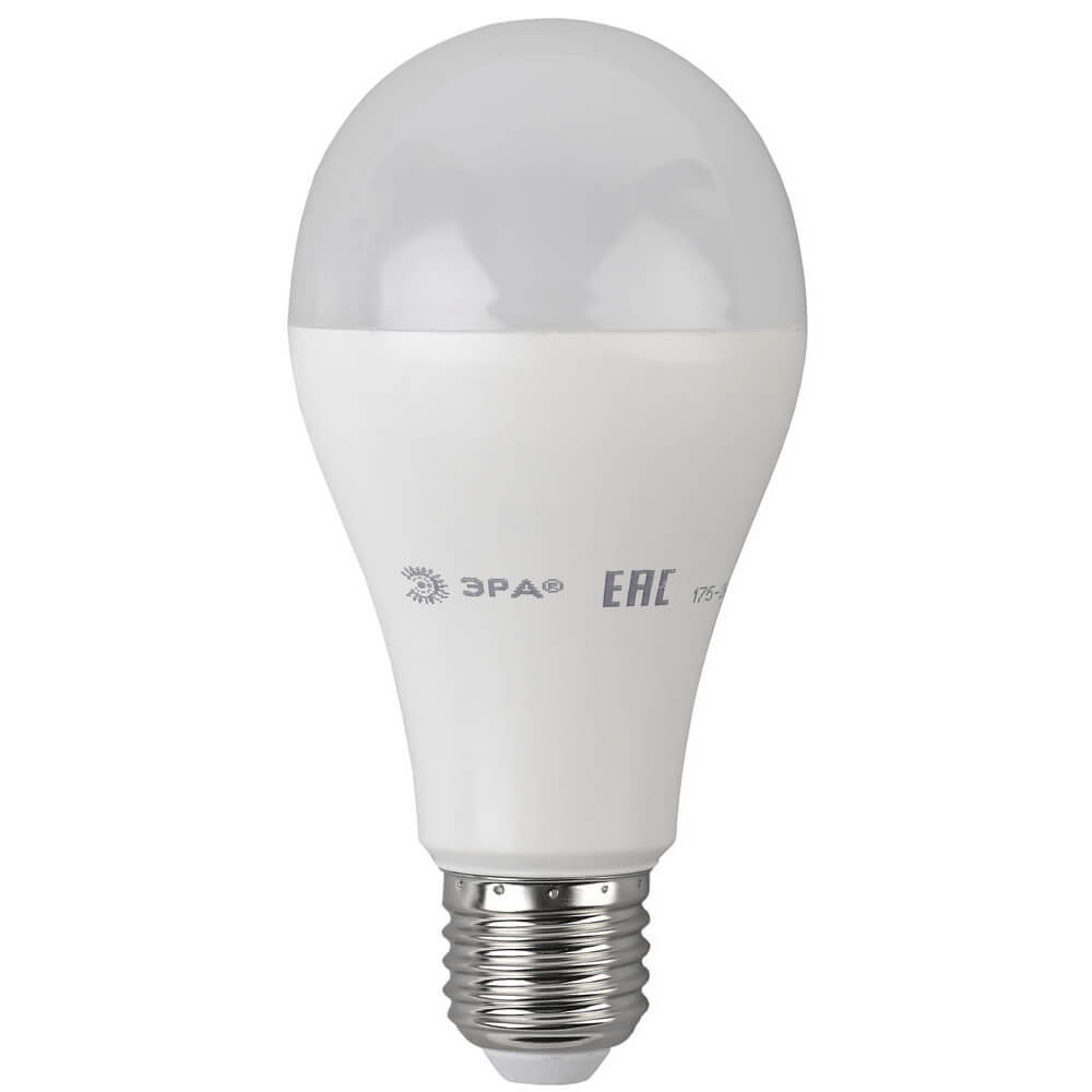 Лампа светодиодная ЭРА E27 19W 4000K матовая LED A65-19W-840-E27 цены
