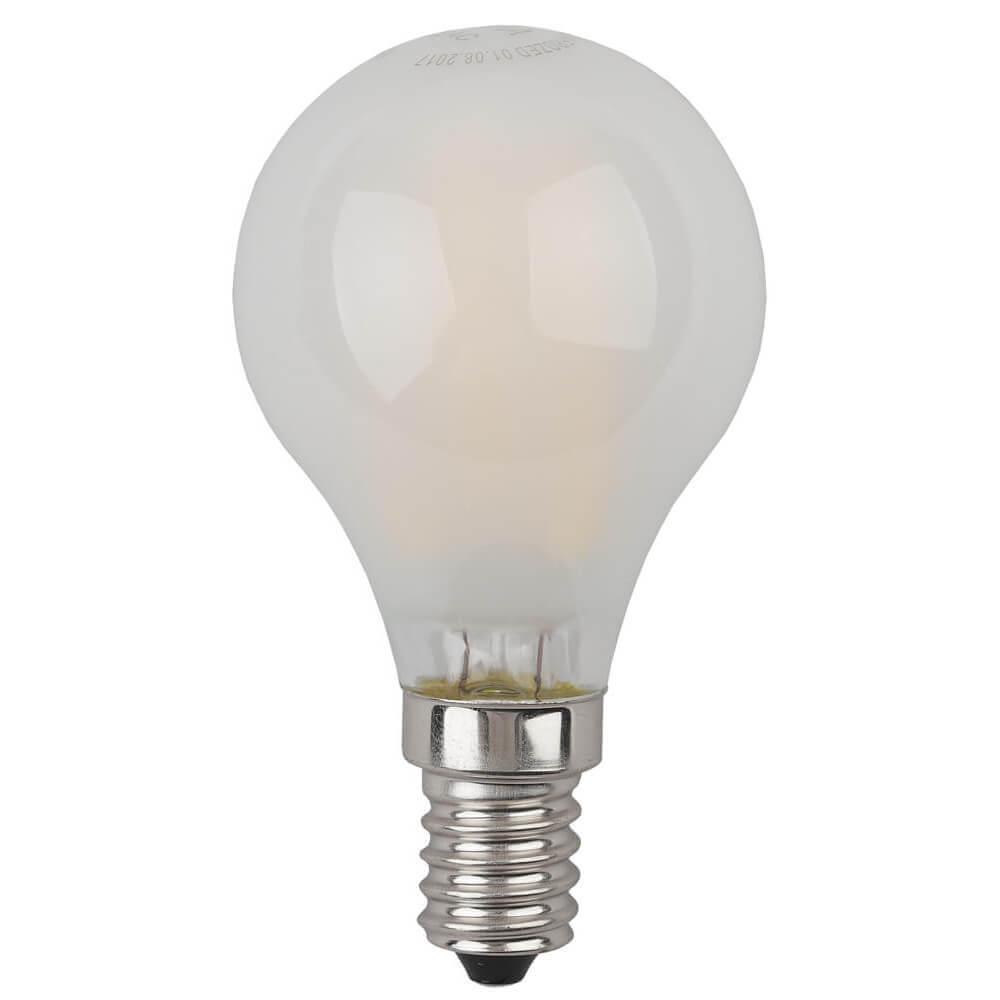 Лампа светодиодная филаментная ЭРА E14 7W 2700K матовая F-LED P45-7W-827-E14 frost цена и фото