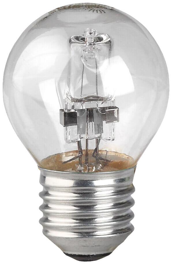 Лампа галогенная ЭРА E27 28W 2700K прозрачная HAL-P45-28W-230V-E27-CL лампа галогенная шар эра hal p45 28w 230v e27 cl e27 28w 3000k