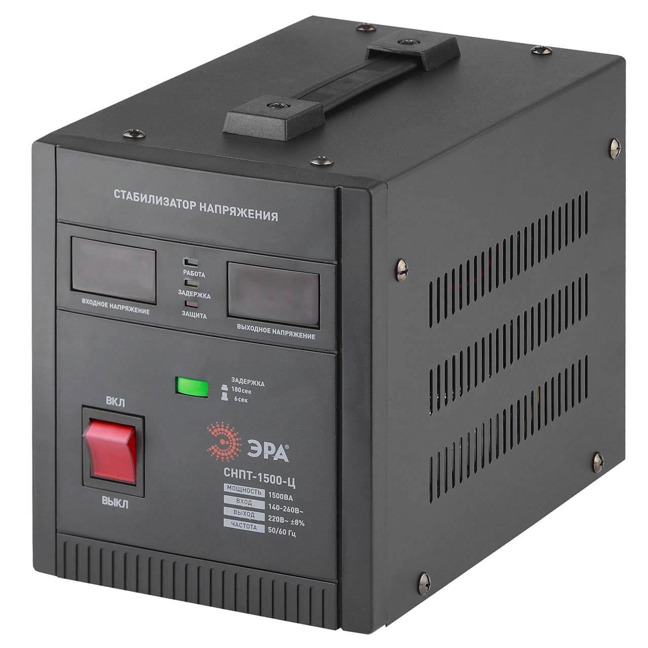 Стабилизатор напряжения ЭРА СНПТ-1500-Ц