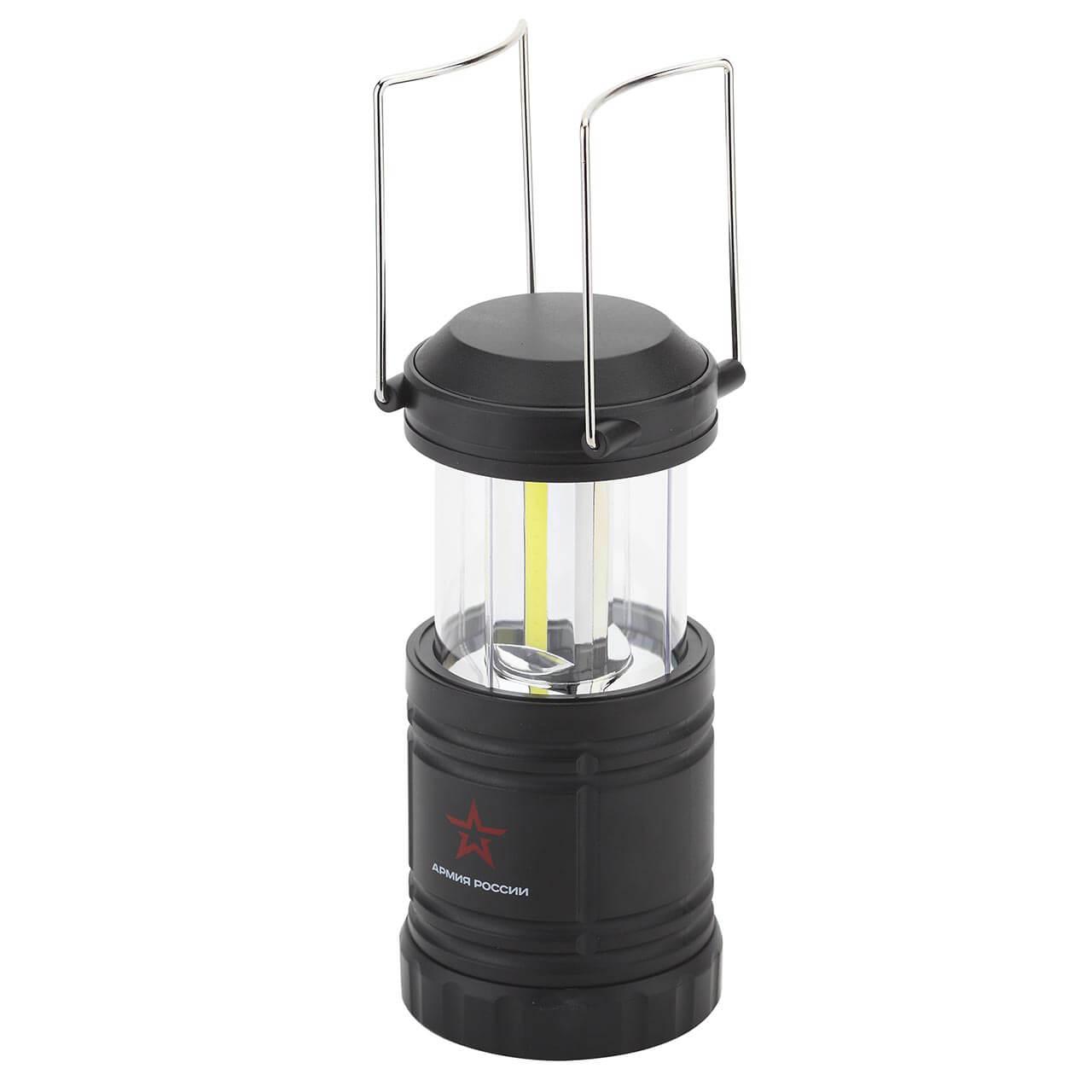 Кемпинговый светодиодный фонарь ЭРА Армия России Заря от батареек 188x86 520 лм KB-502 фонарь focusray 520