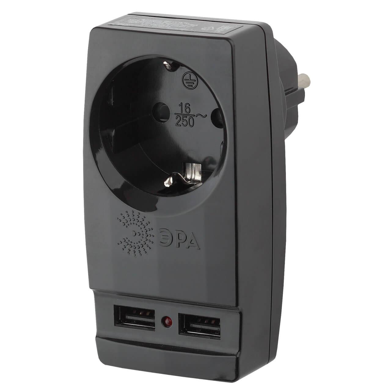 Сетевой разветвитель ЭРА SP-1e-USB-B