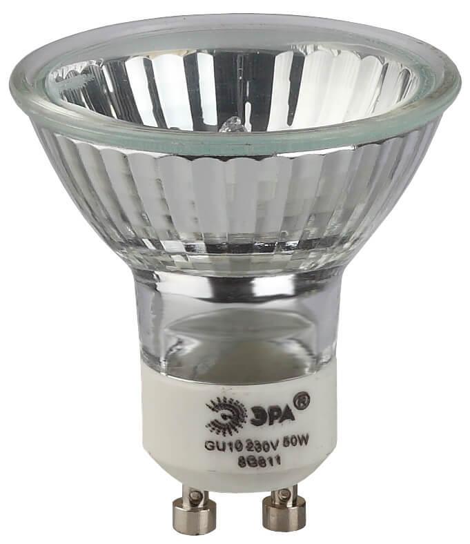 цена на Лампа галогенная ЭРА GU10 50W 2700K прозрачная GU10-JCDR (MR16) -50W-230V