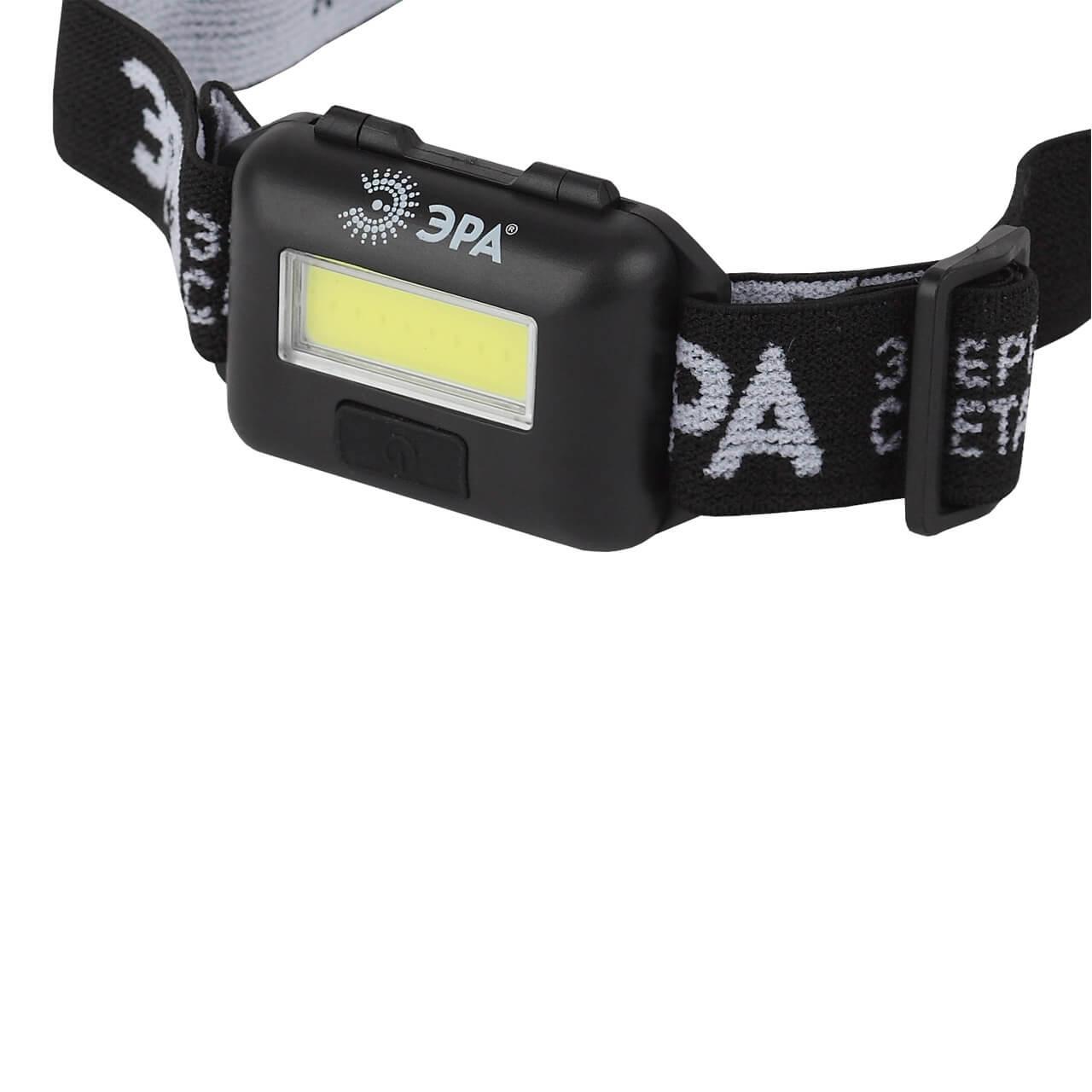 Налобный светодиодный фонарь ЭРА от батареек GB-607 светодиодный алюминиевый фонарь эра sd9