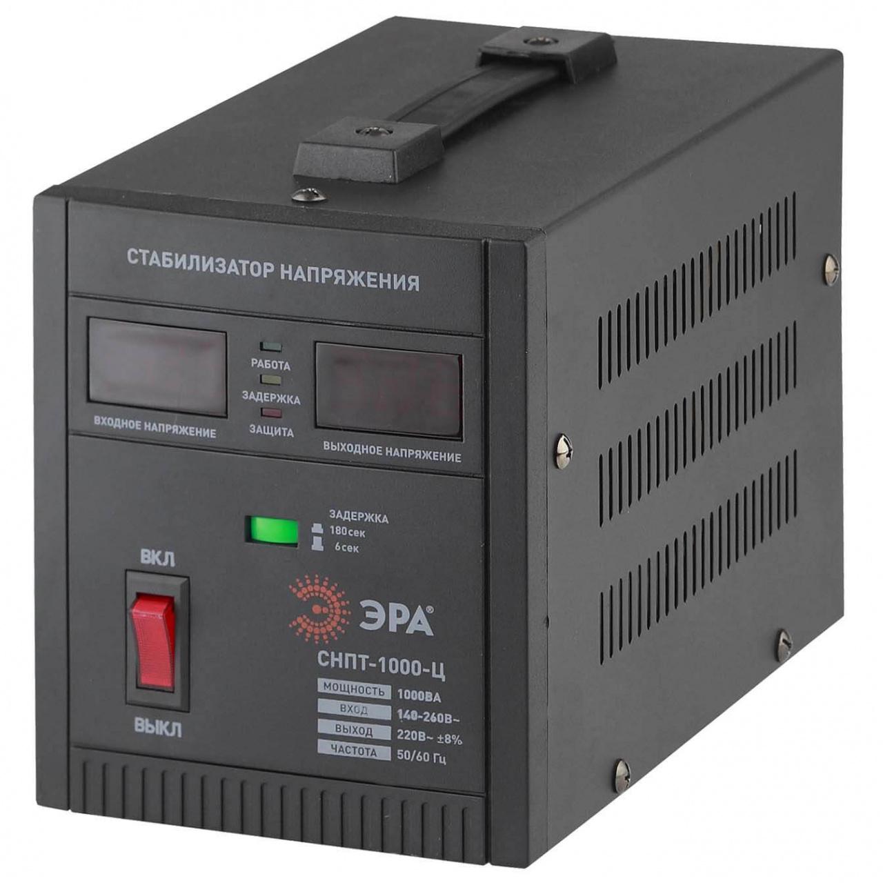 Стабилизатор напряжения ЭРА СНПТ-1000-Ц стабилизатор напряжения эра sta 3000