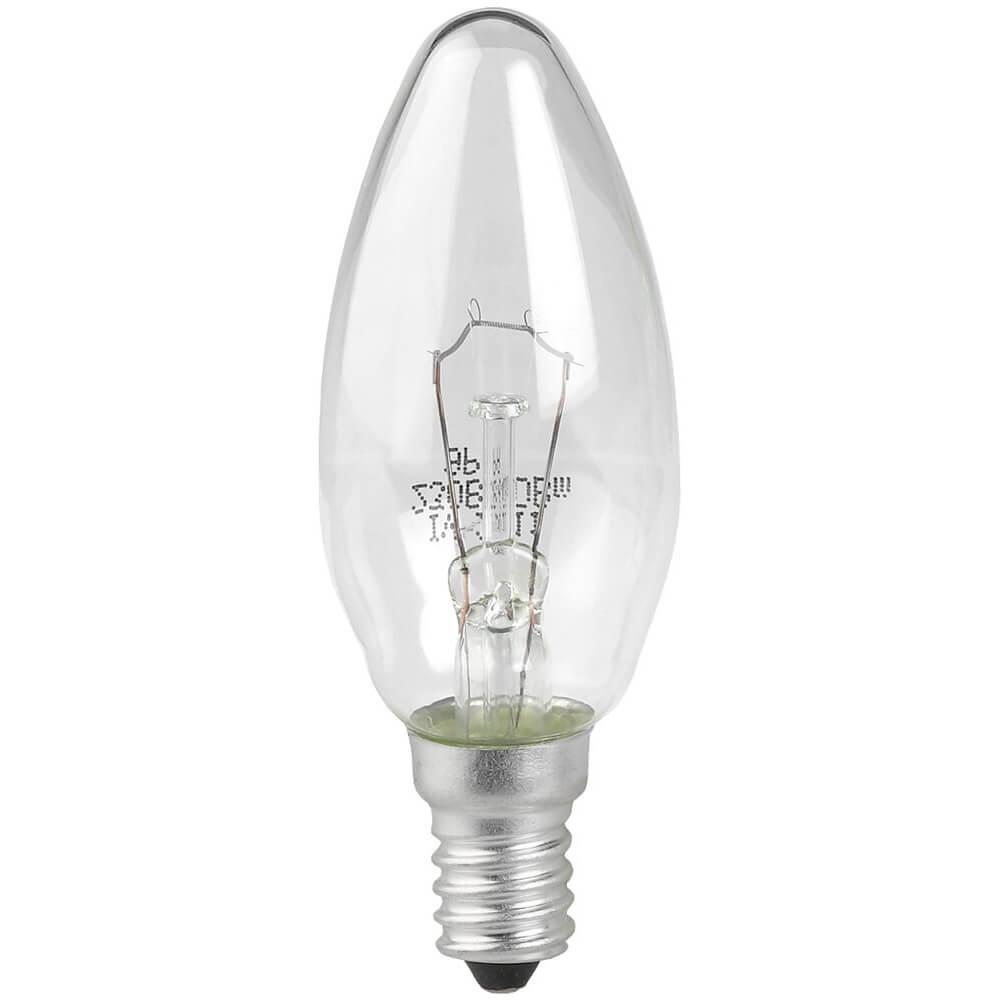 Лампа накаливания ЭРА E14 40W 2700K прозрачная ЛОН ДС40-230-E14-CL лампа накаливания цилиндрическая camelion mic 15 p cl e14 e14 15w 2700k