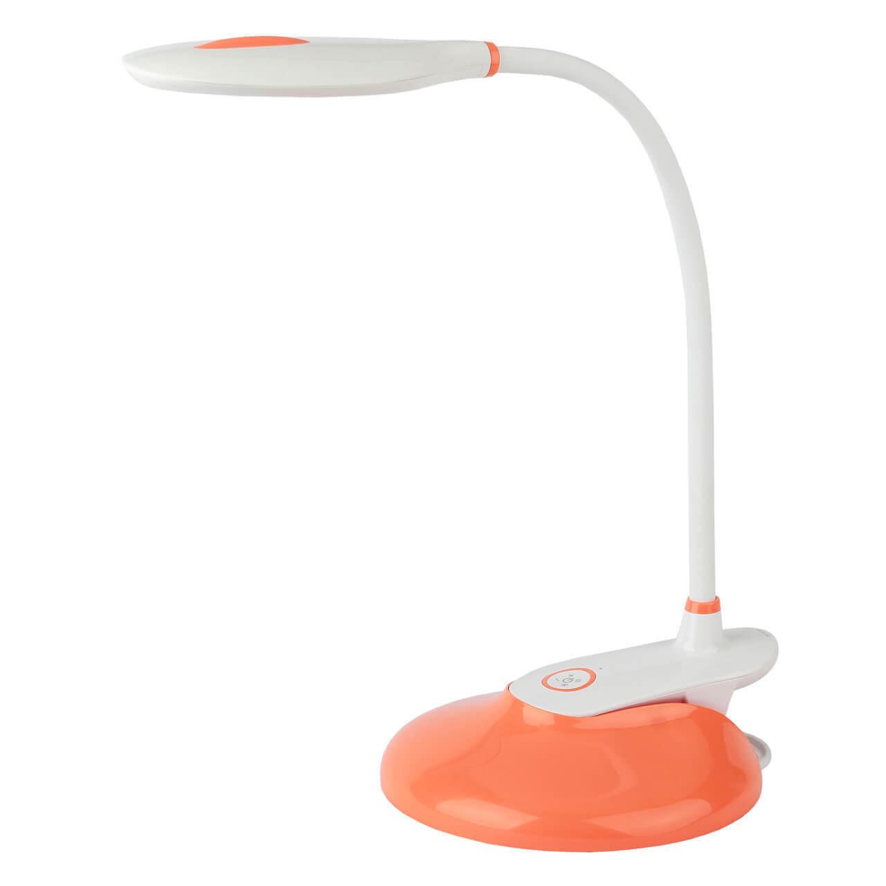 Фото - Настольная лампа ЭРА NLED-459-9W-OR NLED-459 светильник настольный эра nled 459 9w bu на подставке 9вт белый [б0028459]
