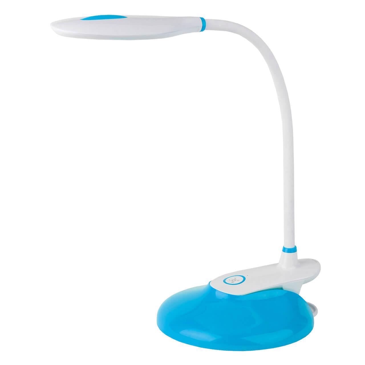 Фото - Настольная лампа ЭРА NLED-459-9W-BU NLED-459 светильник настольный эра nled 459 9w bu на подставке 9вт белый [б0028459]