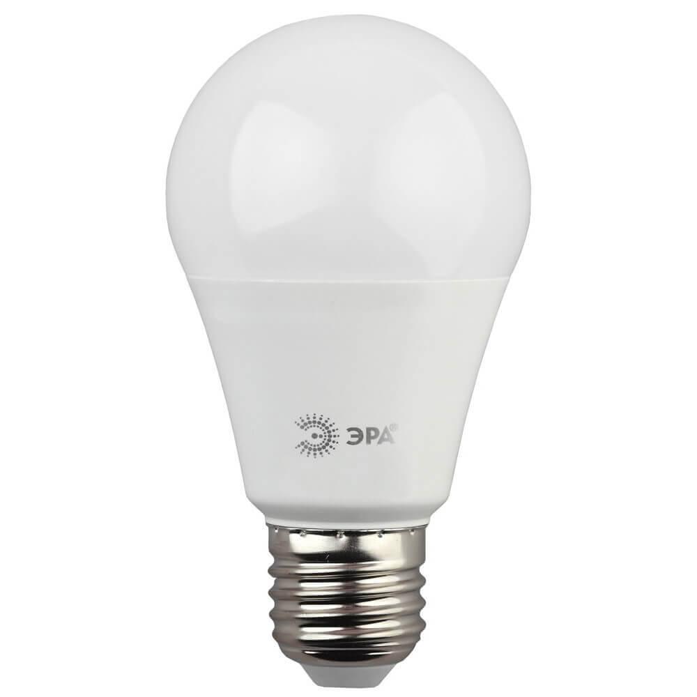 цены Лампа светодиодная ЭРА E27 15W 2700K матовая LED A60-15W-827-E27