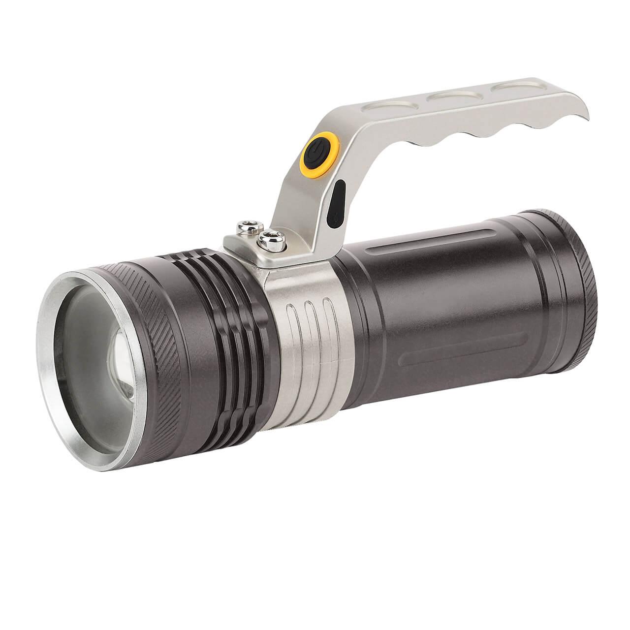 Ручной светодиодный фонарь ЭРА аккумуляторный PA-804 светодиодный алюминиевый фонарь эра sd9