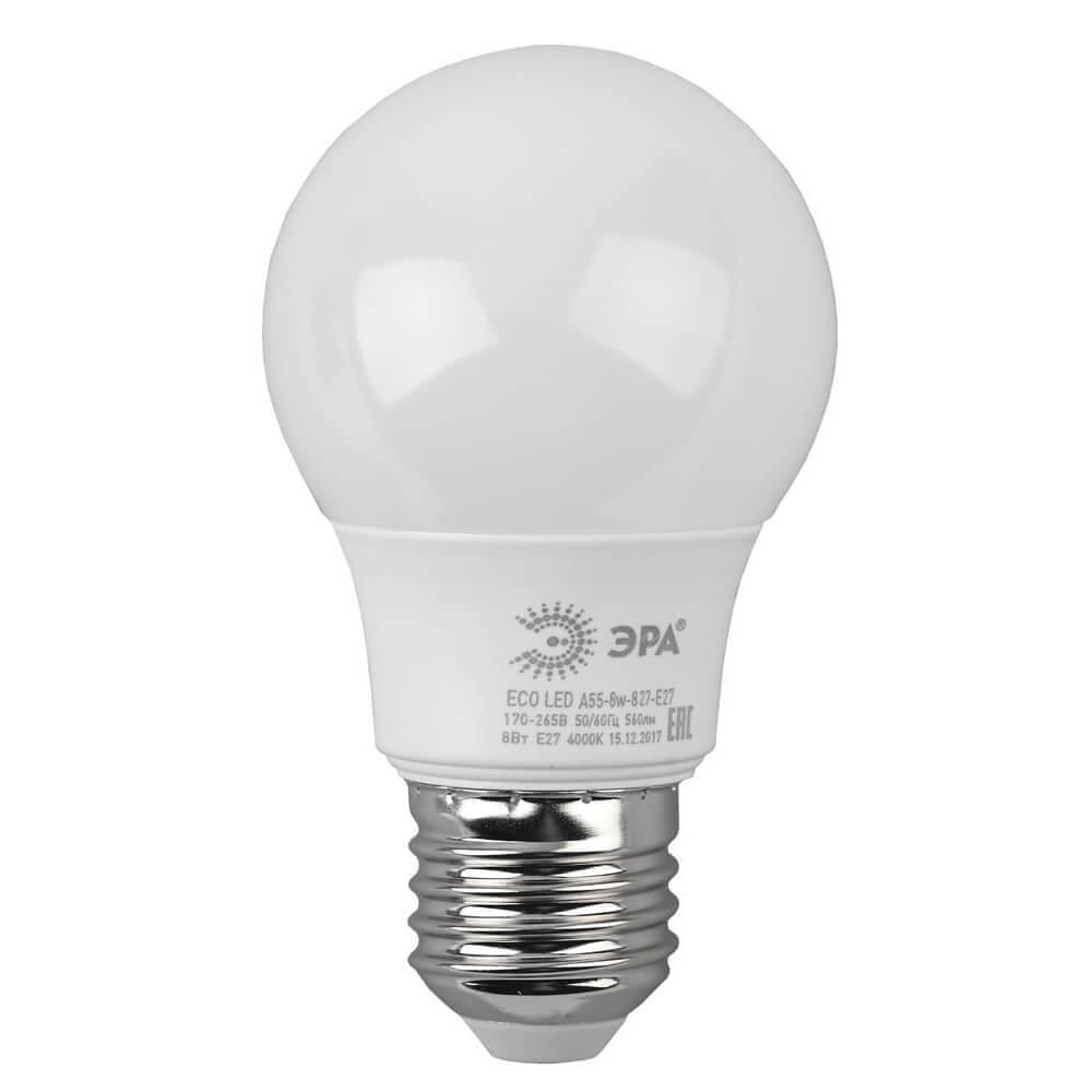 Лампочка ЭРА ECO LED A55-8W-827-E27 ECO LED A55