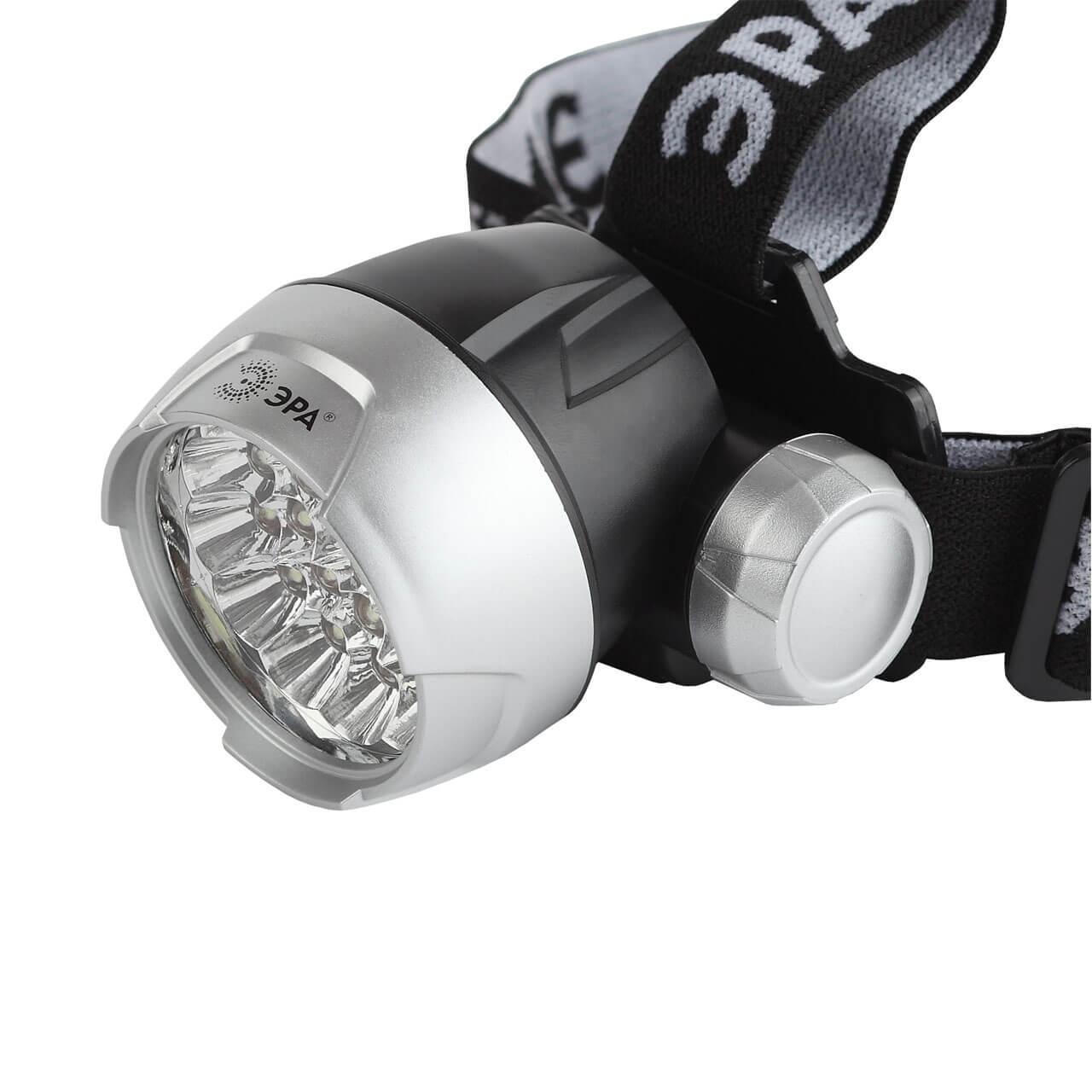 Налобный светодиодный фонарь ЭРА от батареек GB-706 светодиодный алюминиевый фонарь эра sd9