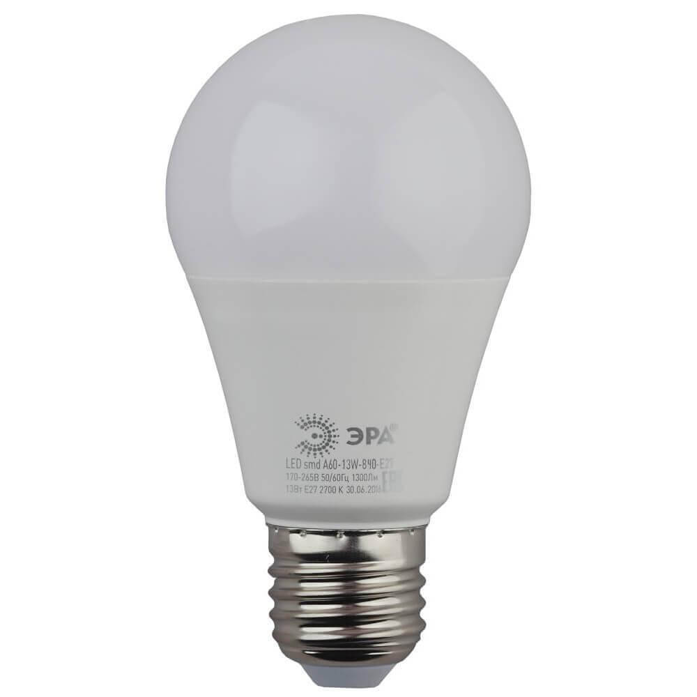 Лампочка ЭРА LED A60-13W-840-E27 LED A60