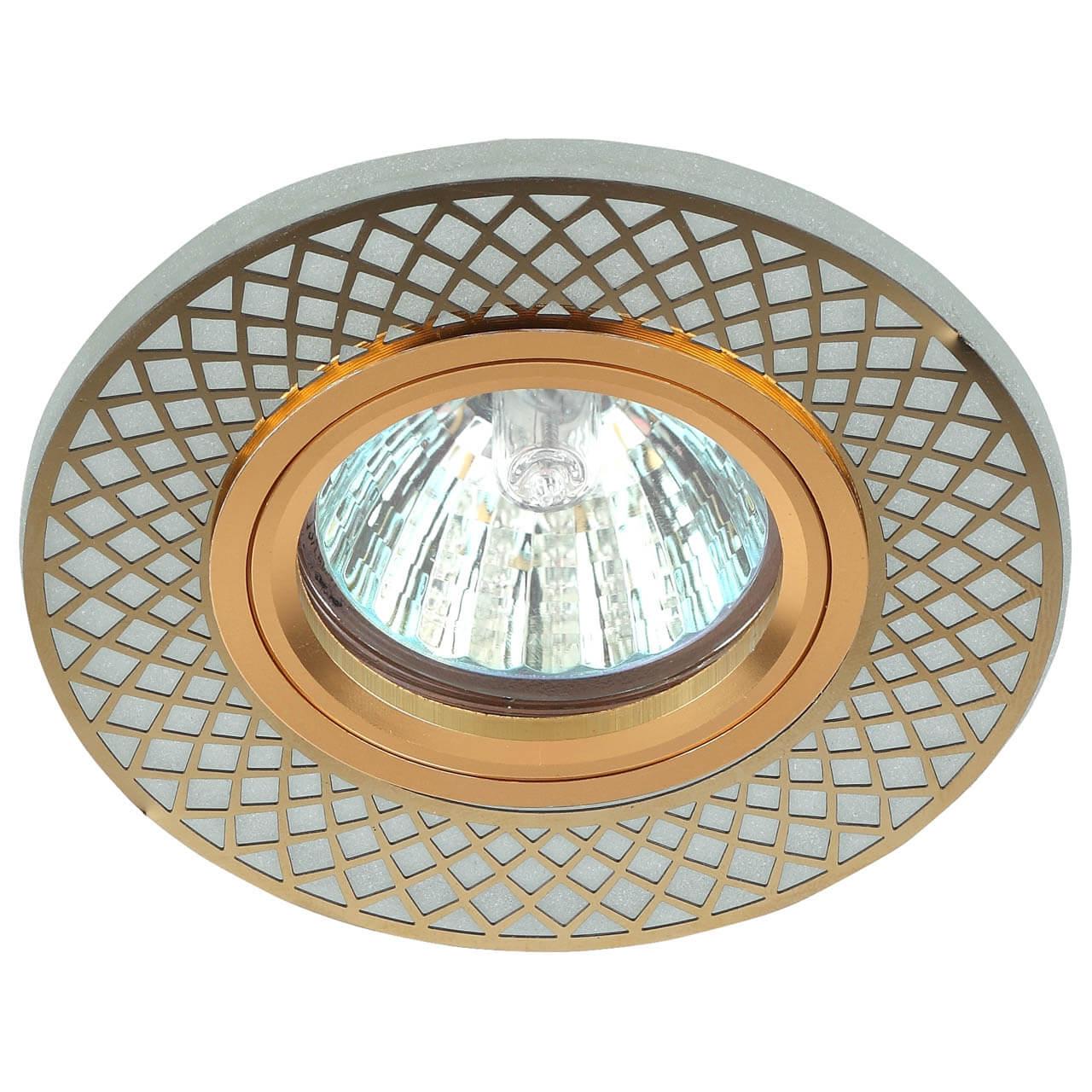 Точечный светильник ЭРА DK LD42 WH/GD elvan точечный светильник elvan sd 8016 g wh
