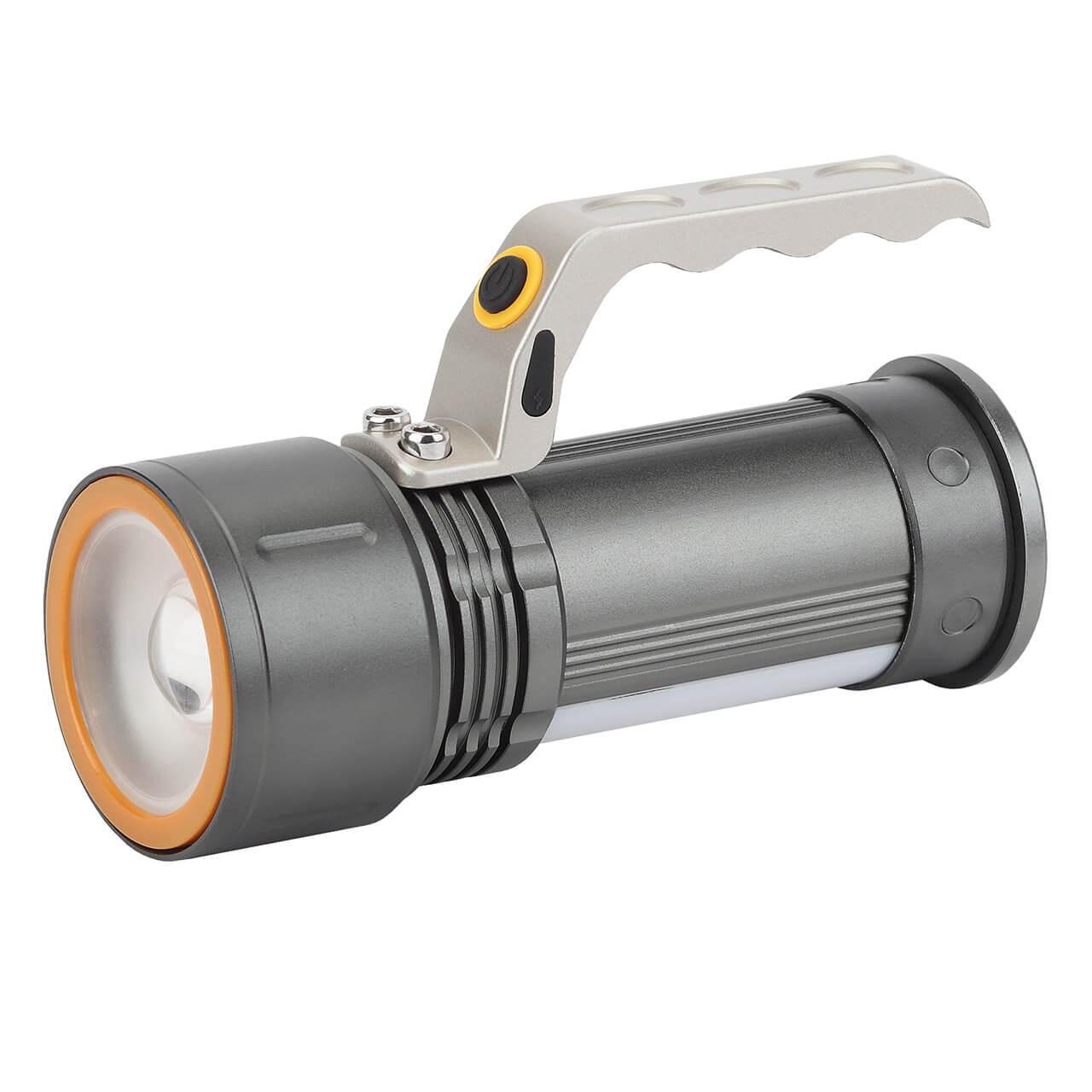 Ручной светодиодный фонарь ЭРА аккумуляторный PA-805 светодиодный алюминиевый фонарь эра sd9