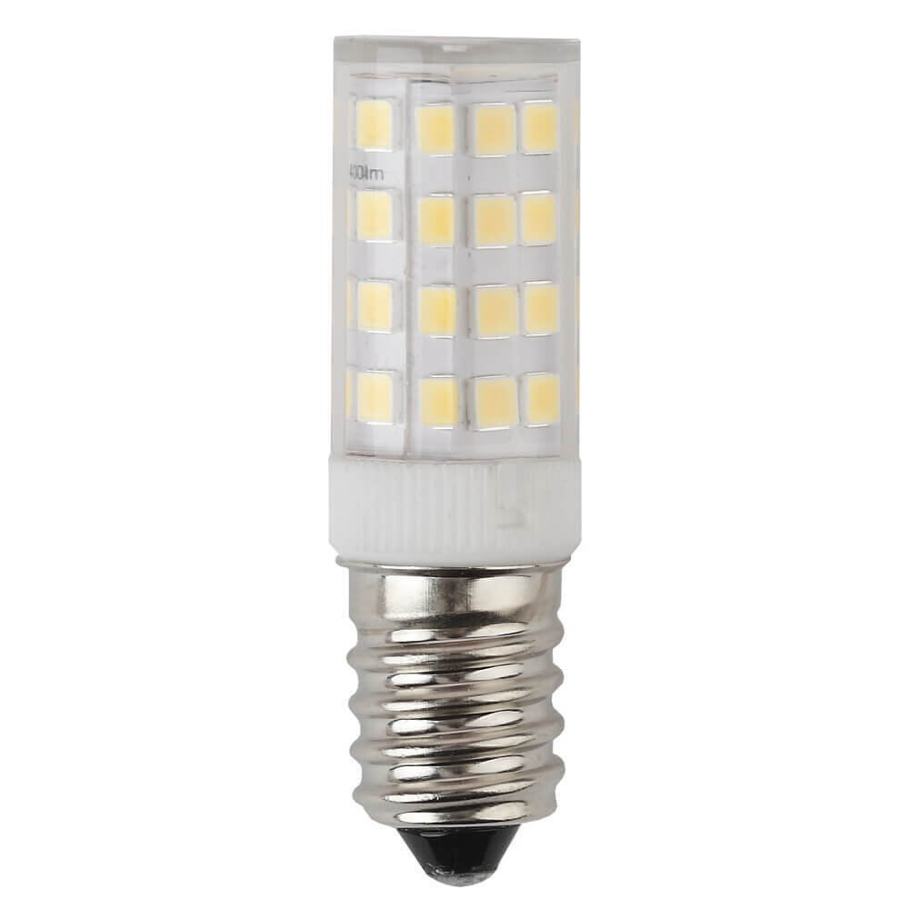 Лампа светодиодная ЭРА E14 3,5W 2700K прозрачная LED T25-3,5W-CORN-827-E14