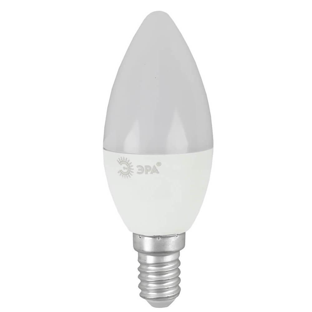 Лампа светодиодная ЭРА E14 8W 4000K матовая ECO LED B35-8W-840-E14 цена и фото