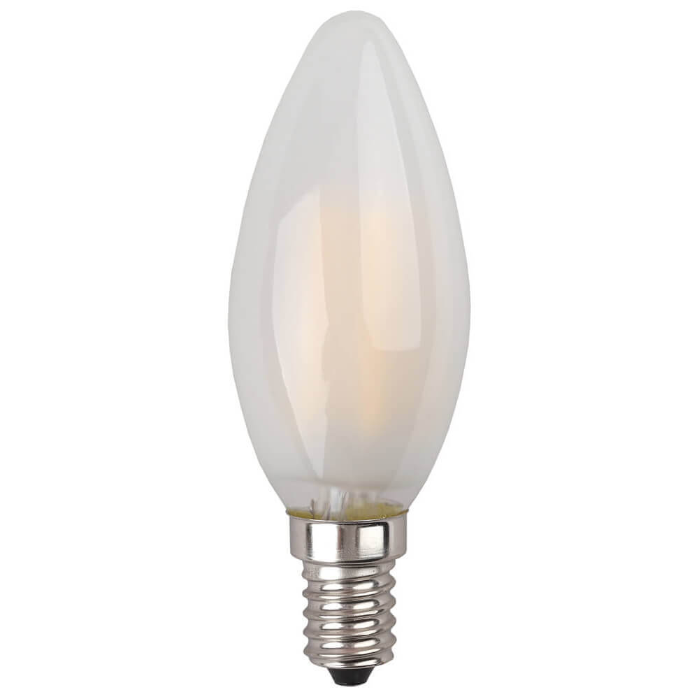 Лампа светодиодная филаментная ЭРА E14 5W 2700K матовая F-LED B35-5W-827-E14 frost лампа светодиодная свеча эра b35 9w 827 e14 e14 9w 2700k