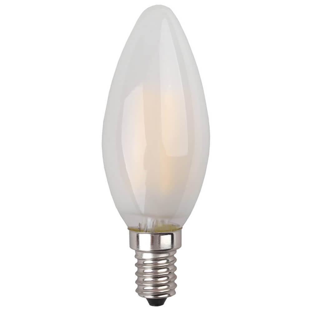 купить Лампа светодиодная филаментная ЭРА E14 7W 2700K матовая F-LED B35-7W-827-E14 frost дешево