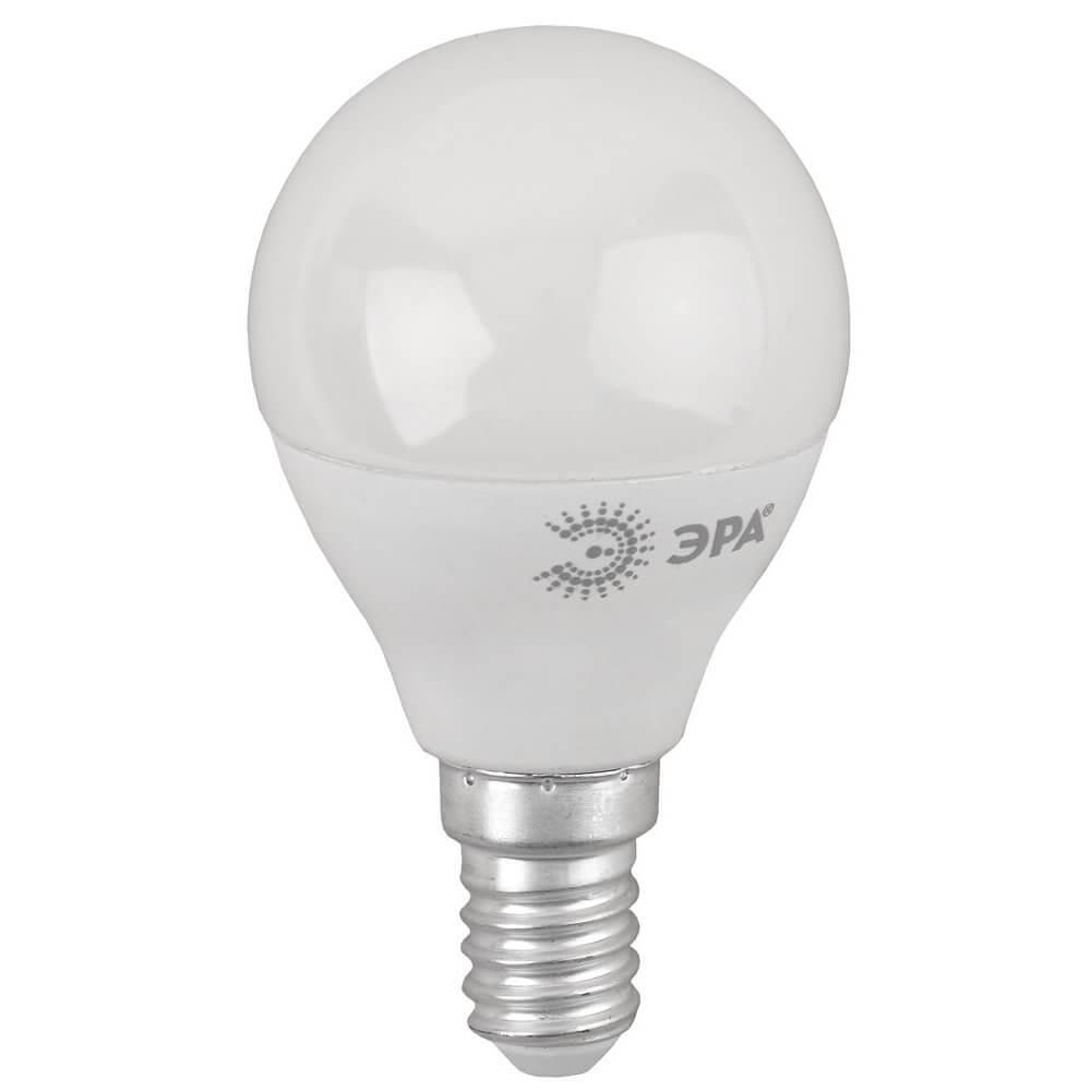Лампа светодиодная ЭРА E14 8W 4000K матовая ECO LED P45-8W-840-E14 цена и фото