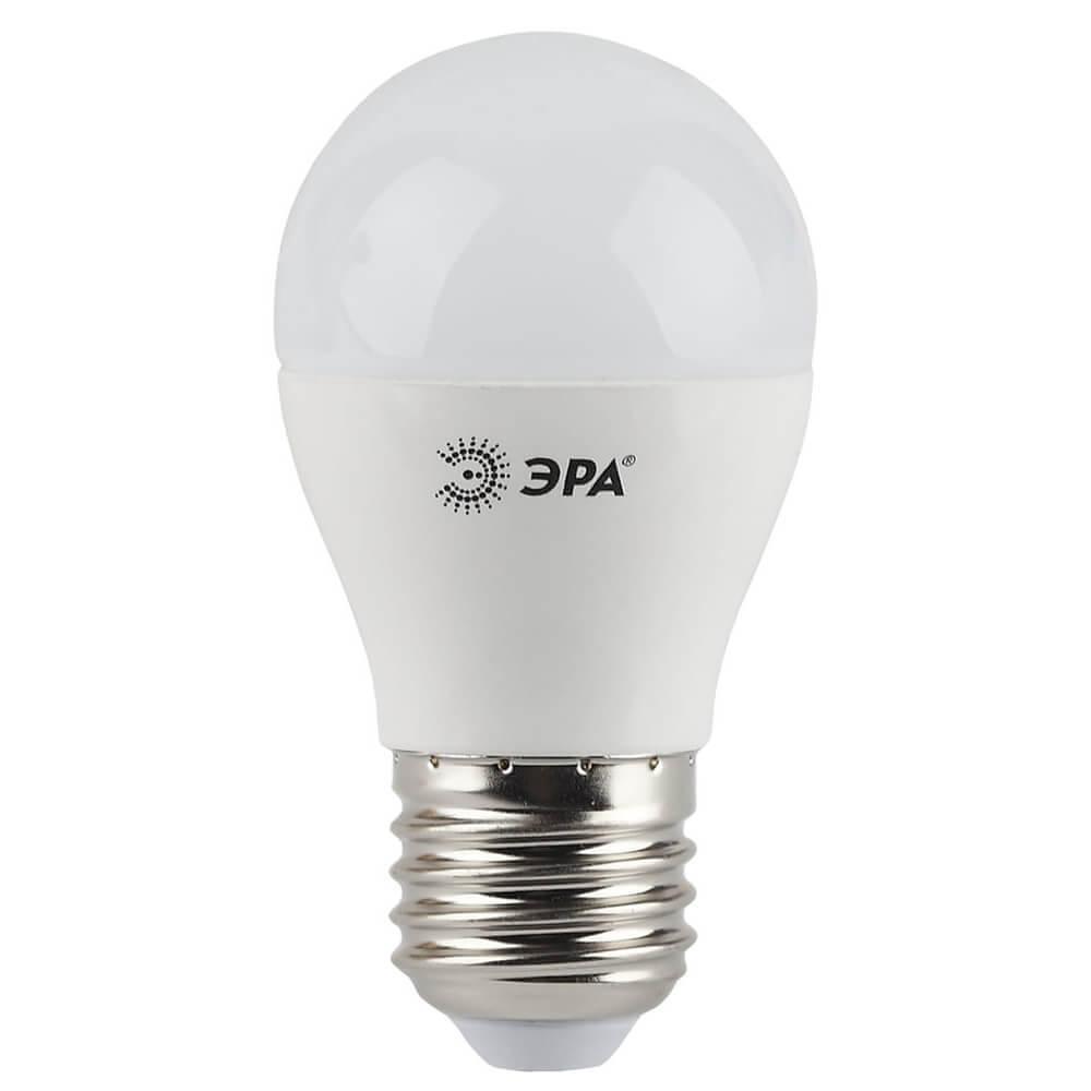 Лампа светодиодная ЭРА E27 7W 4000K матовая LED P45-7W-840-E27 цена и фото