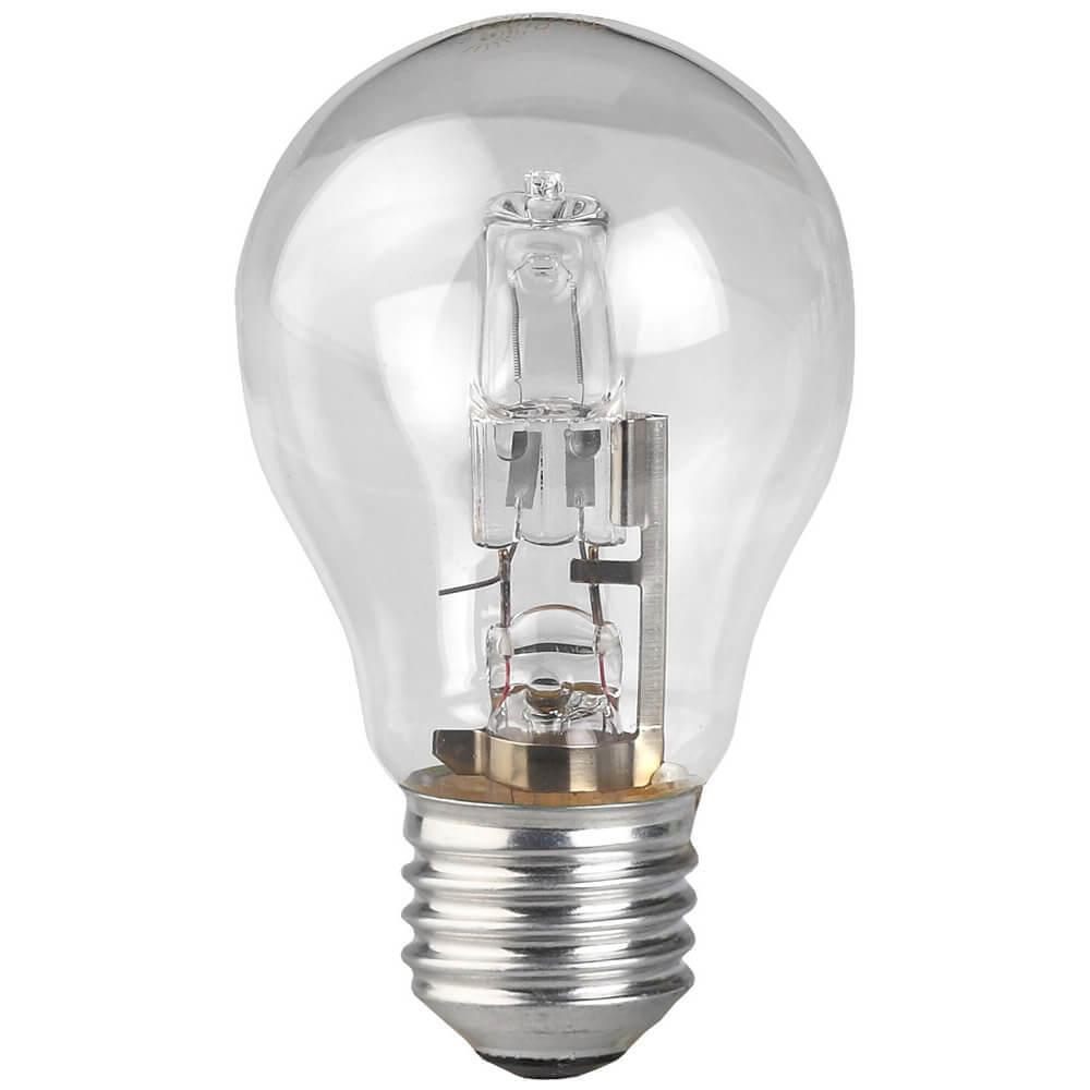 Лампа галогенная ЭРА E27 50W прозрачная HAL-A55-50W-230V-E27-CL лампа галогенная шар эра hal p45 28w 230v e27 cl e27 28w 3000k