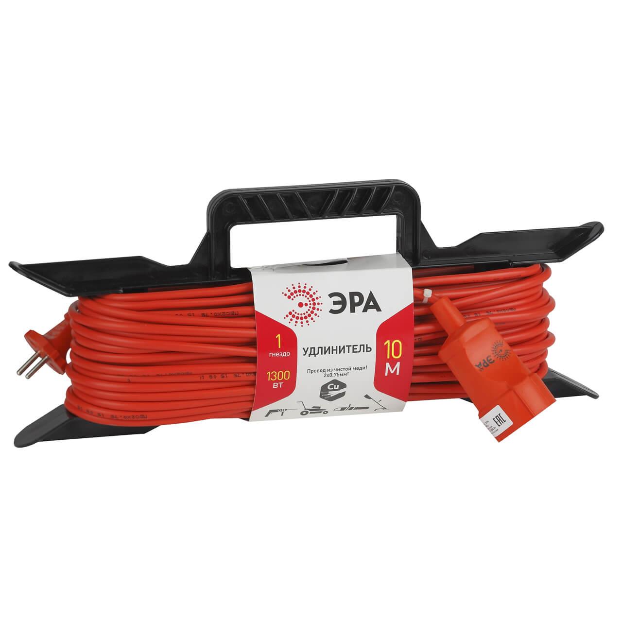 цены на Удлинитель ЭРА UF-1-2x0.75-10m  в интернет-магазинах