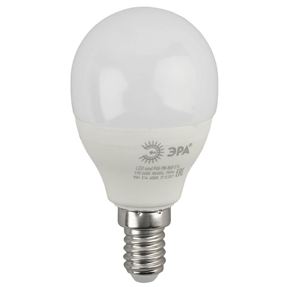 Лампочка ЭРА LED P45-9W-860-E14 LED P45