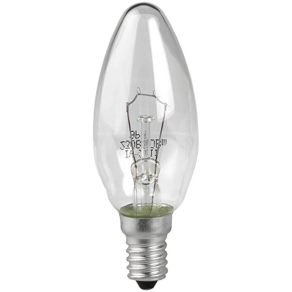 Лампа накаливания ЭРА E14 60W 2700K прозрачная ЛОН ДС60-230-E14-CL лампа накаливания цилиндрическая camelion mic 15 p cl e14 e14 15w 2700k