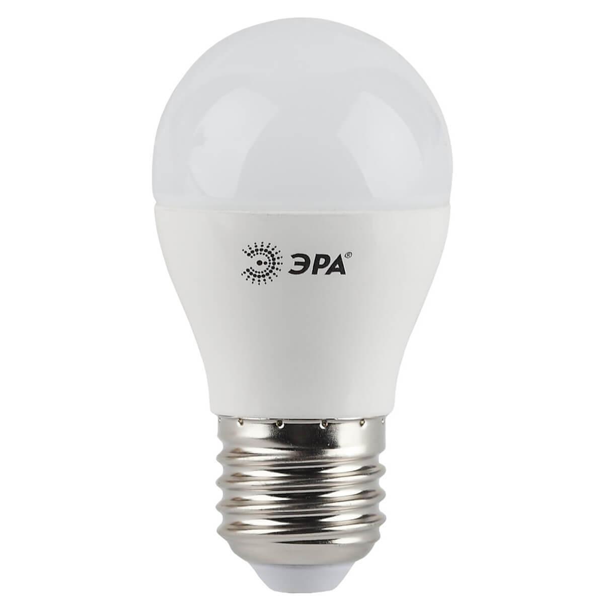 Лампа светодиодная ЭРА E27 5W 2700K шар матовый LED P45-5W-827-E27 skylark лампа светодиодная skylark шар матовый e27 6 5w 3000k a003