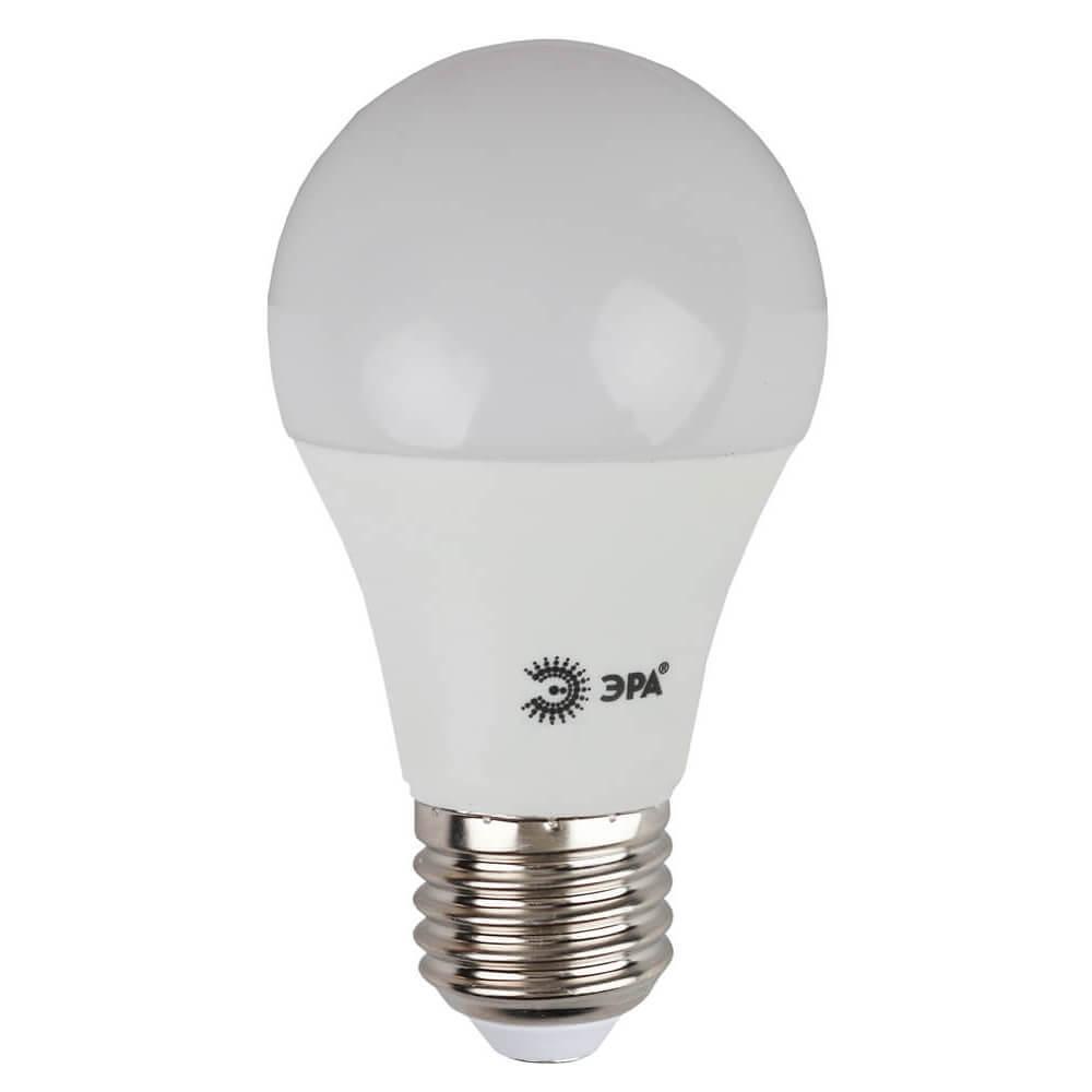 Лампа светодиодная ЭРА E27 10W 4000K матовая ECO LED A60-10W-840-E27