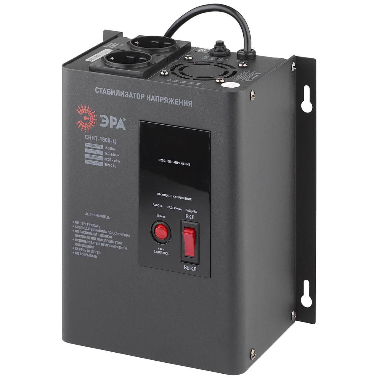 Стабилизатор напряжения ЭРА СННТ-1500-Ц цена