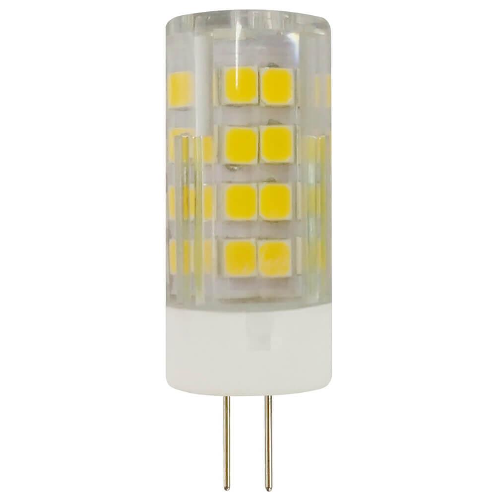 цены Лампа светодиодная ЭРА G4 5W 4000K прозрачная LED JC-5W-220V-CER-840-G4