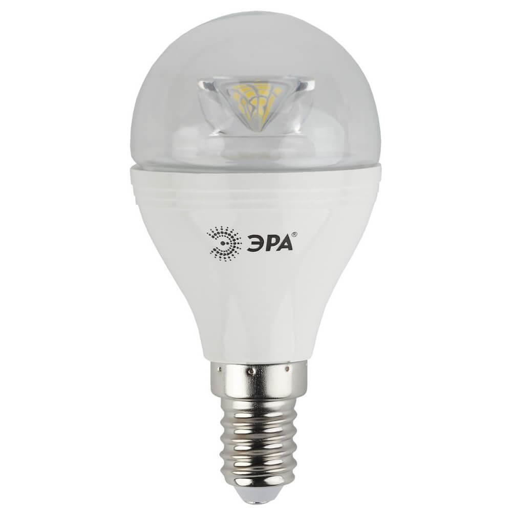 Лампа светодиодная ЭРА E14 7W 2700K прозрачная LED P45-7W-827-E14-Clear цена и фото