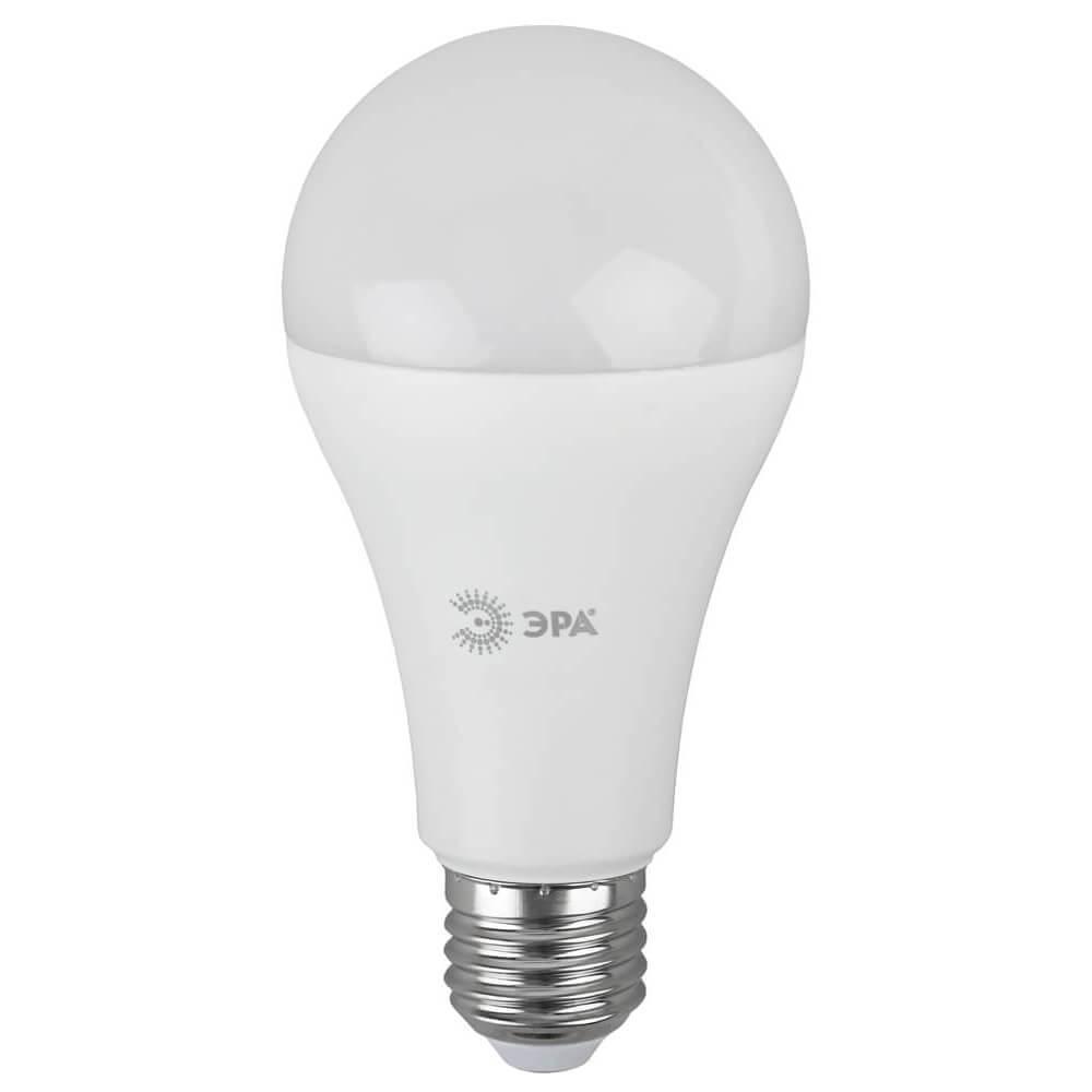 Лампа светодиодная ЭРА E27 25W 2700K матовая LED A65-25W-827-E27
