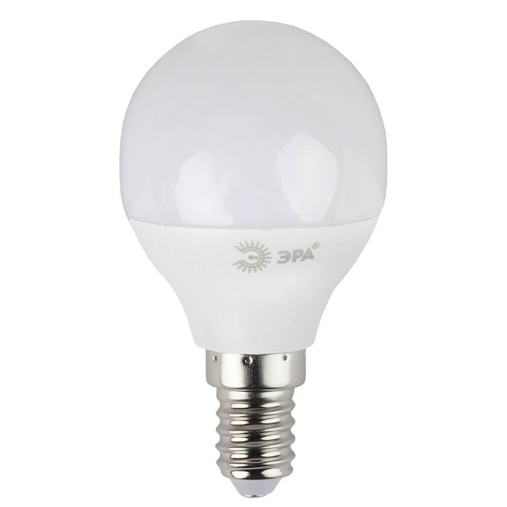 Лампа светодиодная ЭРА E14 7W 4000K матовая LED P45-7W-840-E14 цена и фото