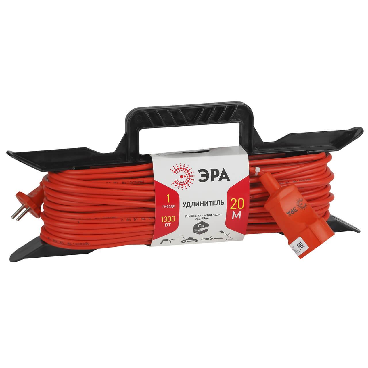 цены на Удлинитель ЭРА UF-1-2x0.75-20m  в интернет-магазинах